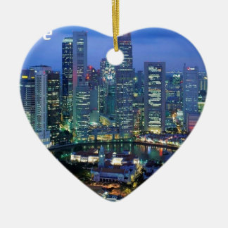 aerial  view  of singapore  angie ceramic heart decoration
