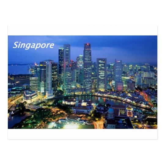 aerial view of singapore angie postcard
