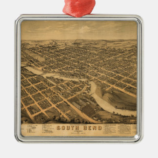 Aerial View of South Bend, Indiana (1874) Christmas Ornament