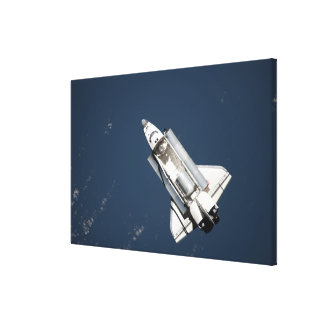Aerial view of Space Shuttle Discovery 2 Canvas Print