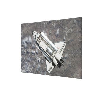 Aerial view of Space Shuttle Discovery Canvas Print