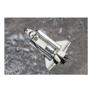 Aerial view of Space Shuttle Discovery Photo Art