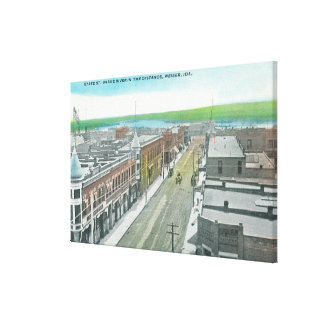 Aerial View of State Street and Snake River Canvas Print
