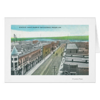 Aerial View of State Street and Snake River Card