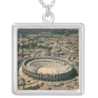 Aerial view of the amphitheatre silver plated necklace