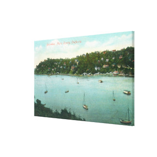 Aerial View of the BayBelvedere, CA Canvas Print