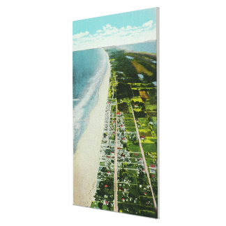 Aerial View of the Beachfront Canvas Print