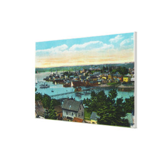 Aerial View of the Boothbay Harbor Canvas Print