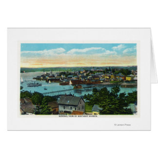 Aerial View of the Boothbay Harbor Card
