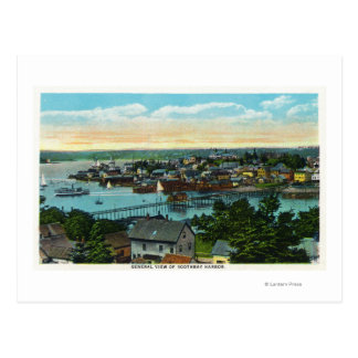 Aerial View of the Boothbay Harbor Postcard