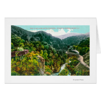 Aerial View of the Canyon, Southern Pacific Trai Greeting Card