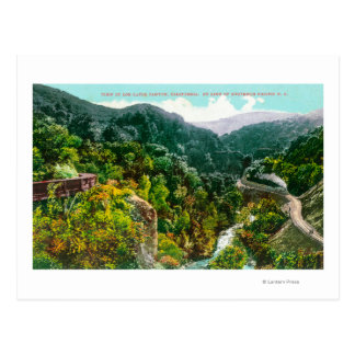 Aerial View of the Canyon, Southern Pacific Trai Postcard