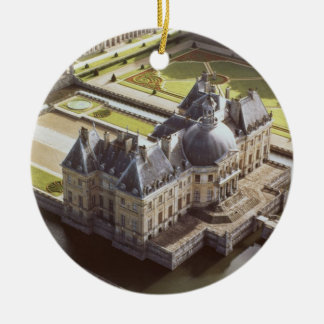 Aerial view of the Chateau, designed for Nicholas Christmas Ornament