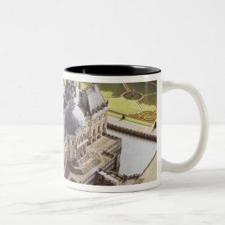Aerial view of the Chateau, designed for Nicholas Two-Tone Coffee Mug