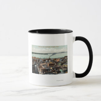 Aerial View of the City and Harbor Mug