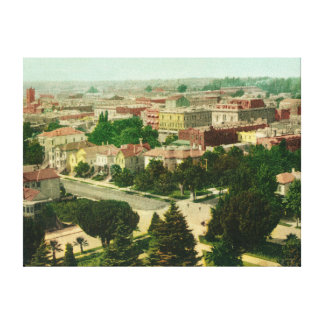 Aerial View of the City Canvas Print