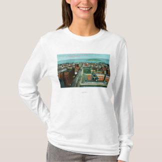 Aerial View of the City from the Call Building T-Shirt