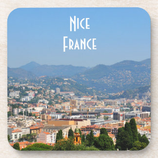 Aerial view of the city of Nice in France Beverage Coaster