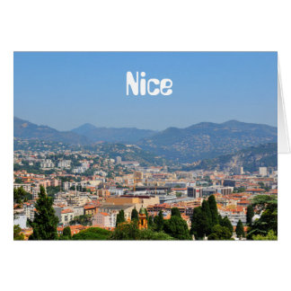 Aerial view of the city of Nice in France Card