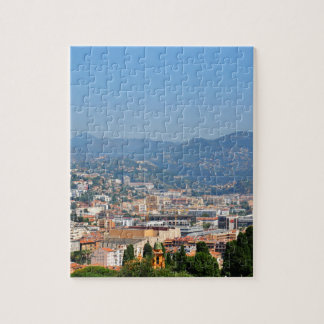 Aerial view of the city of Nice in France Jigsaw Puzzle