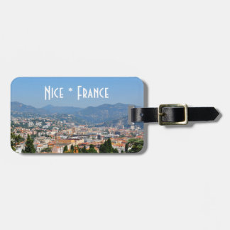 Aerial view of the city of Nice in France Luggage Tag