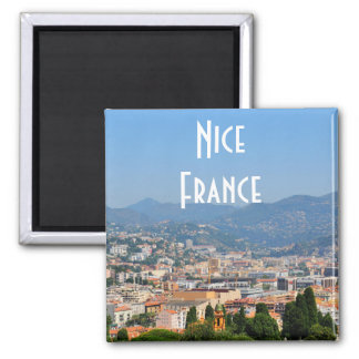 Aerial view of the city of Nice in France Magnet