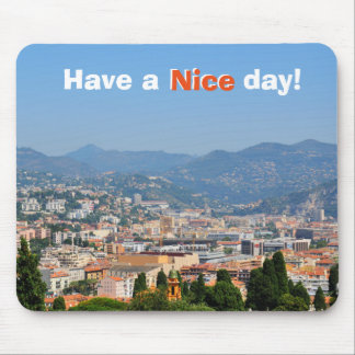 Aerial view of the city of Nice in France Mouse Mat