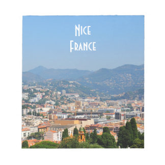 Aerial view of the city of Nice in France Notepad