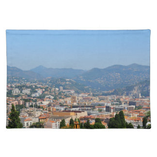 Aerial view of the city of Nice in France Placemat