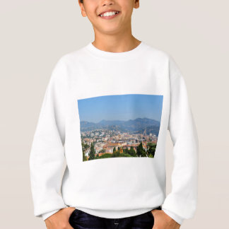 Aerial view of the city of Nice in France Sweatshirt