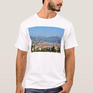 Aerial view of the city of Nice in France T-Shirt