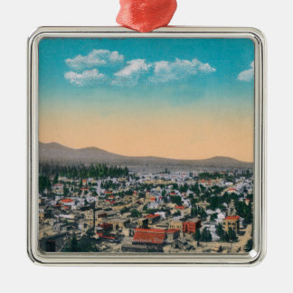 Aerial View of the CityCoeur d'Alene, ID Christmas Ornament