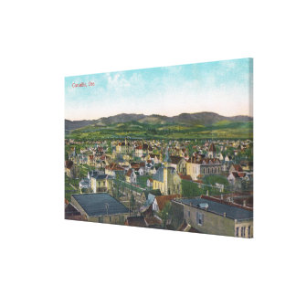 Aerial View of the CityCorvallis, OR Canvas Print