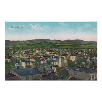 Aerial View of the CityCorvallis, OR Poster