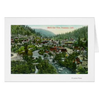 Aerial View of the CityDunsmuir, CA Card
