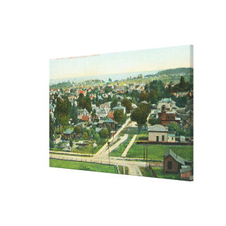 Aerial View of the CitySanta Cruz, CA Canvas Print