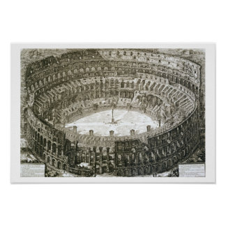 Aerial view of the Colosseum in Rome from 'Views o Poster
