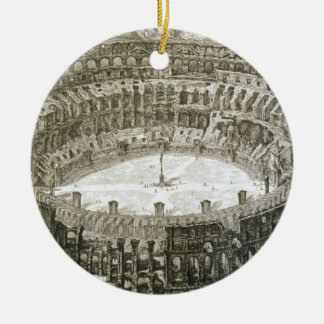 Aerial view of the Colosseum in Rome from 'Views o Round Ceramic Decoration