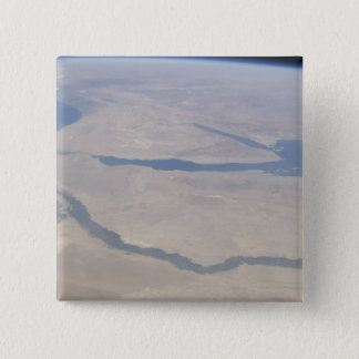Aerial view of the Egypt and the Sinai Peninsul 15 Cm Square Badge