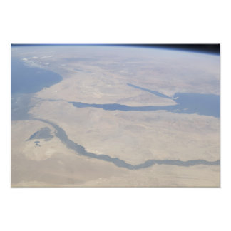 Aerial view of the Egypt and the Sinai Peninsul Photo Print