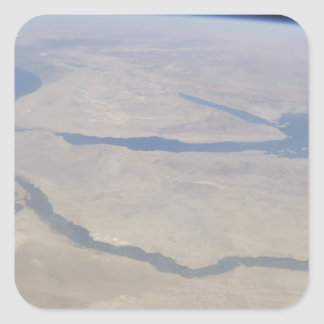 Aerial view of the Egypt and the Sinai Peninsul Square Sticker