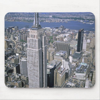 Aerial view of the Empire State Building and Mouse Mat