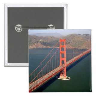 Aerial view of the Golden Gate Bridge in the 2 15 Cm Square Badge