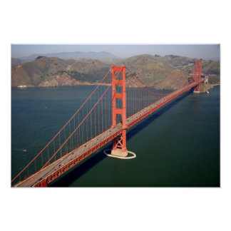 Aerial view of the Golden Gate Bridge in the 2 Poster