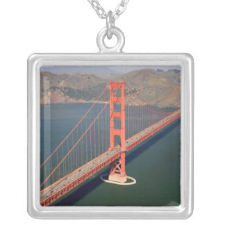 Aerial view of the Golden Gate Bridge in the 2 Silver Plated Necklace