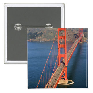 Aerial view of the Golden Gate Bridge in the 15 Cm Square Badge