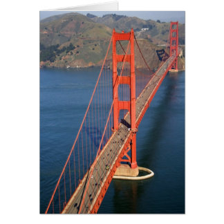 Aerial view of the Golden Gate Bridge in the Card