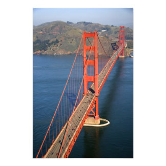 Aerial view of the Golden Gate Bridge in the Photo Print
