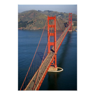 Aerial view of the Golden Gate Bridge in the Poster