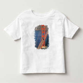 Aerial view of the Golden Gate Bridge in the Toddler T-Shirt